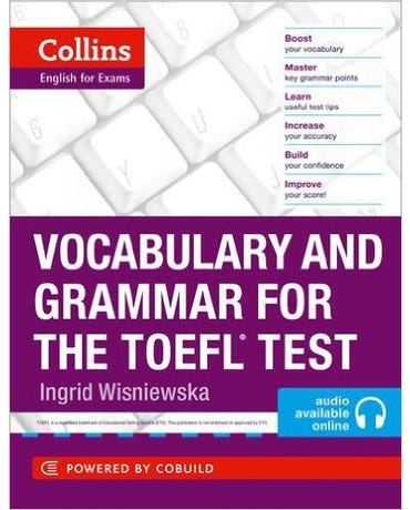 Collins Vocabulary And Grammar For The TOEFL Test - Book With MP3 Audio CD - Audio Available Online