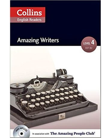 Amazing Writers - Collins English Readers - Level 4 - Book With MP3 CD