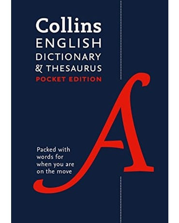 Collins English Dictionary And Thesaurus - Pocket Edition - Seventh Edition