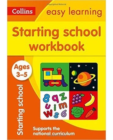Collins Easy Learning - Starting School Workbook - Ages 3-5 - New Edition