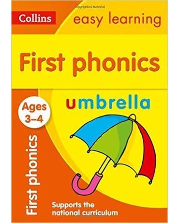 Collins Easy Learning - First Phonics - Ages 3-4 - New Edition