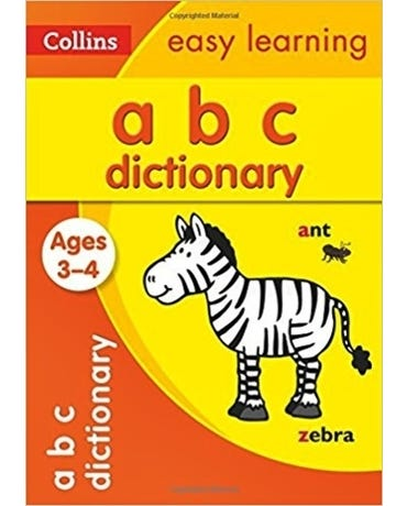Collins Easy Learning - Abc Dictionary - Ages 3-4