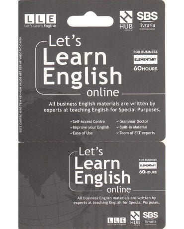 Let's Learn English Card - For Business - Elementary (6 Months)