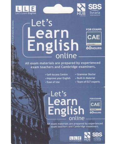 Let's Learn English Card - For Exams - CAE (6 Months)