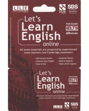 Let's Learn English Card - For Exams - Ielts (6 Months)