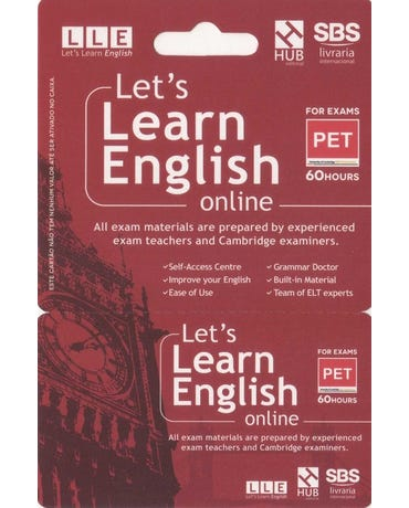 Let's Learn English Card - For Exams - Pet (6 Months)