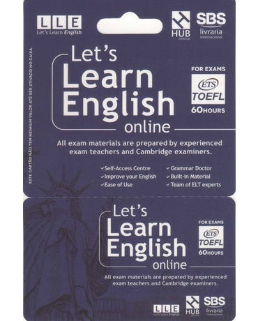Let's Learn English Card - For Exams - TOEFL (6 Months)