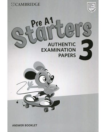 Pre A1 Starters 3 - Authentic Examination Papers - Answer Booklet