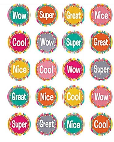 Tropical Punch Stickers - 120 Stickers - Tcr 2673