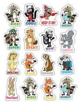 Ranger Rick Stickers - 96 Stickers - Tcr3460
