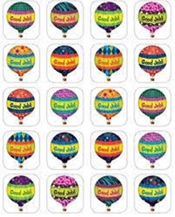 Hot Air Balloons Stickers - 120 Stickers ( Tcr 5339)