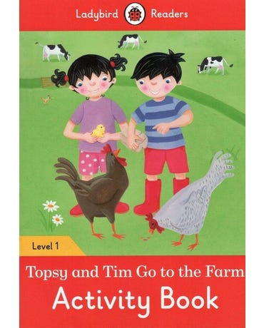 Topsy And Tim: Go To The Farm - Ladybird Readers - Level 1 - Activity Book