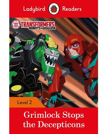 Transformers Grimlock Stops The Decepticons Lv2 Book With Downloadable Audio