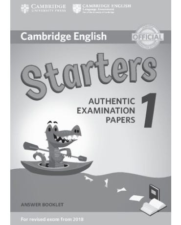 Cambridge English Starters 1 - Answer Booklet