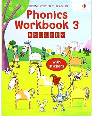 Phonics Workbook 3 - Usborne Very First Reading - Book With Stickers