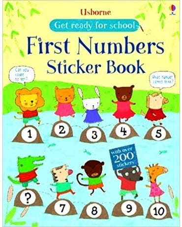 First Numbers Sticker Book - Get Ready For School