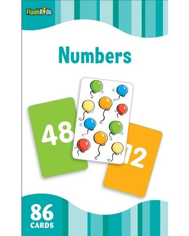 Numbers - Flash Kids Flash Cards - 86 Cards