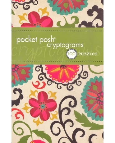 Pocket Posh Cryptograms - 100 Puzzles