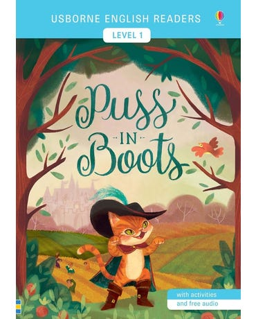 Puss In Boots - Usborne English Readers - Level 1 - Book With Activities And Online Audio