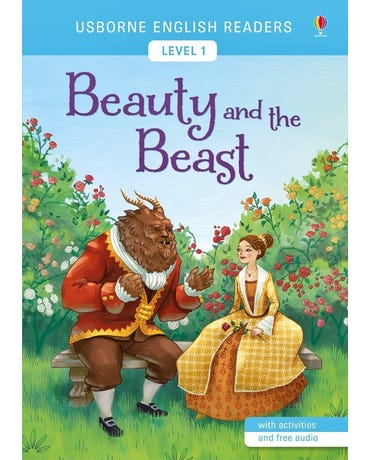 Beauty And The Beast - Usborne English Readers - Level 1 - Book With Activities And Free Audio