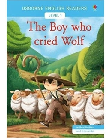 The Boy Who Cried Wolf - Usborne English Readers - Level 1 - Book With Activities And Free Audio