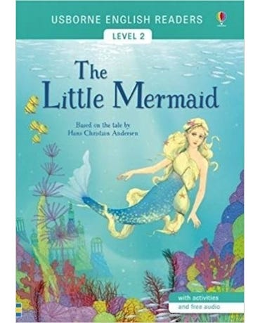 The Little Mermaid - Usborne English Readers - Level 2 - Book With Activities And Free Audio
