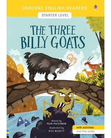 The Three Billy Goats - Usborne English Readers - Level Starter - Book With Activities And Free Audio