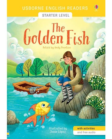 The Golden Fish - Usborne English Readers - Level Starter - Book With Activities And Free Audio