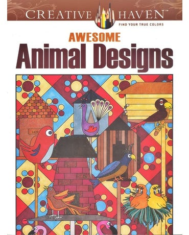 Awesome Animal Designs - Creative Haven Coloring Books