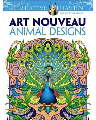 Art Nouveau Animal Designs - Creative Haven Coloring Books