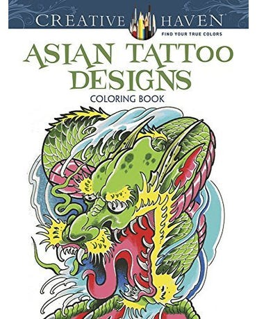 Asian Tattoo Designs - Creative Haven Coloring Books