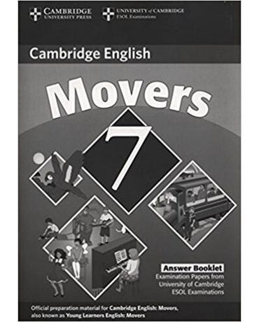 Cambridge Young Learners Movers 7 - Answer Booklet