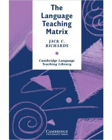 The Language Teaching Matrix