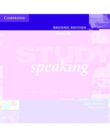 Study Speaking - A Course In Spoken English For Academic Purposes - Audio CD - Second Edition
