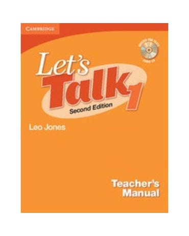 Let's Talk 1 - Teacher's Manual With Audio CD - Second Edition
