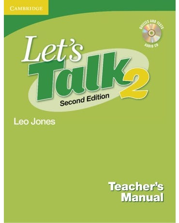 Let's Talk 2 - Teacher's Manual With Audio CD - Second Edition