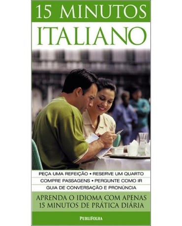 15 Minutos Italiano - Livro + 2 Audio Cds