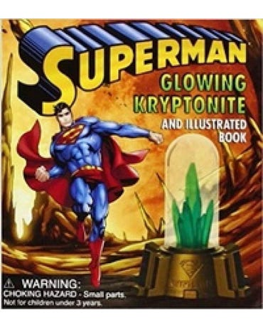 Superman - Glowing Kryptonite And Illustrated Book