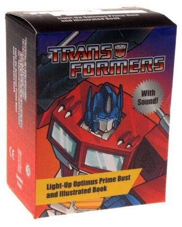 Transformers - Light-Up Optimus Prime Bust And Illustrated Book - With Sound!