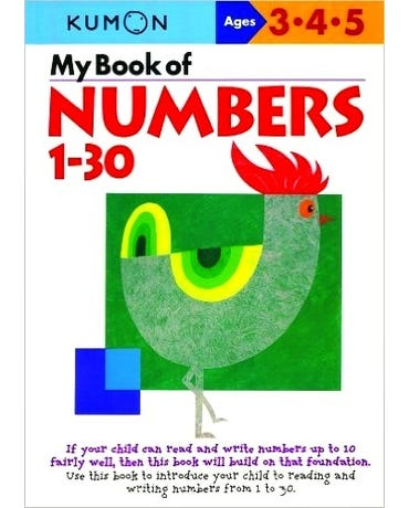 My Book Of Numbers 1-30 - Ages 3-4-5