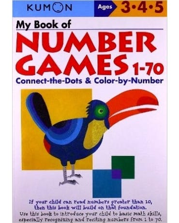 My Book Of Number Games 1-70 - Ages 3-4-5