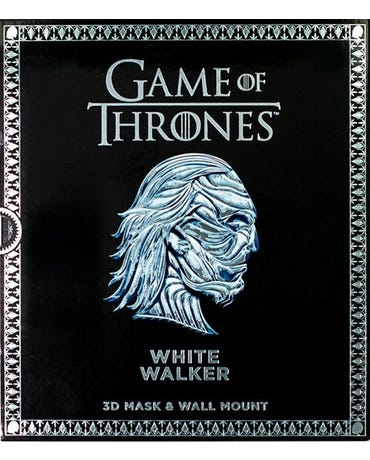 Game Of Thrones Mask - White Walker - 3D Mask & Wall Mount