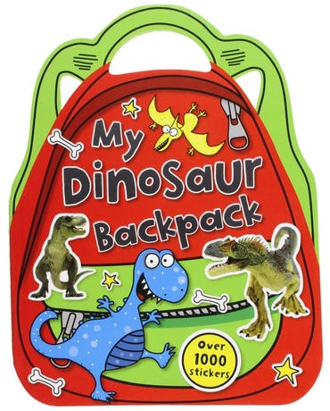 My Dinosaur Backpack - Shaped Sticker Book