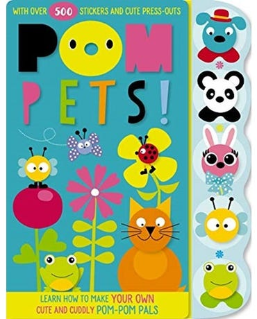 Pom Pets - Activity Book With Over 500 Stickers And Cute Press-Outs