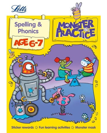 Monster Practice - Spelling And Phonics - Age 6-7 - Book With Sticker