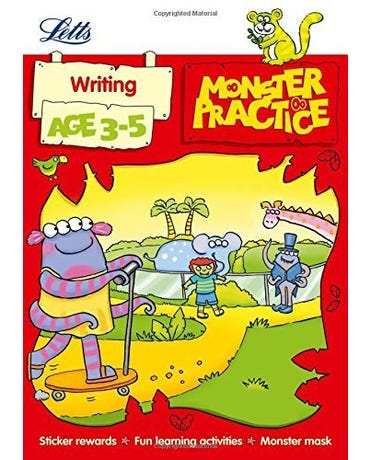 Monster Practice - Writing - Age 3-5 - Book With Sticker