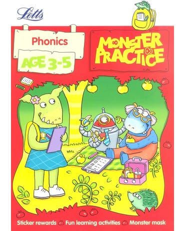 Monster Practice - Phonics - Age 3-5 - Book With Stickers