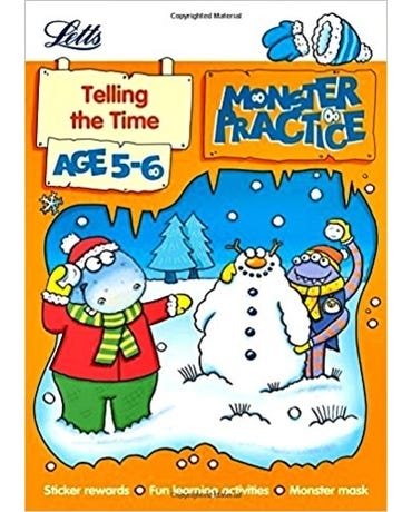 Monster Practice - Telling The Time - Age 5-6 - Book With Sticker