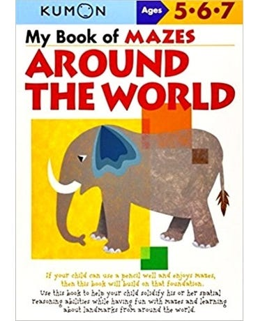 My Book Of Mazes Around The World - Ages 5-6-7